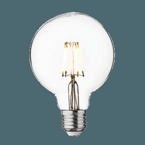 Vintage LED Edison Bulb Old Filament Lamp - 5W E27 Small Globe G95 - Clear