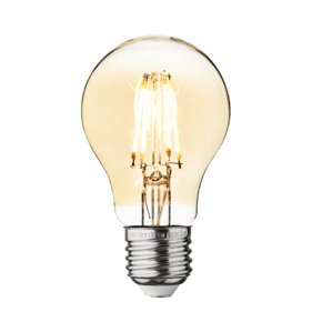 Vintage LED Edison Bulb Old Filament Lamp - 5W E27 Classic A60 - Amber