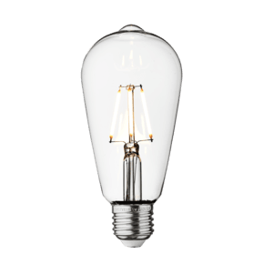 Vintage LED Edison Bulb Old Filament Lamp - 5W E27 Pear ST64 - Clear