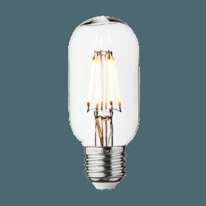 Vintage LED Edison Bulb Old Filament Lamp - 5W E27 Tube T45 - Clear