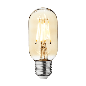 Vintage LED Edison Bulb Old Filament Lamp - 5W E27 Tube T45 - Amber