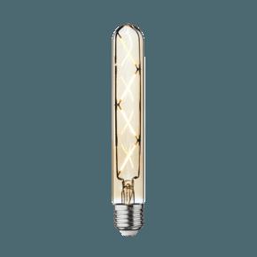 Vintage LED Edison Bulb Old Filament Lamp - 5W E27 Cylinder T30 - Amber