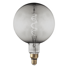 Vintage LED Edison Bulb Old Filament Lamp - 5W E27 Spiral Globe G200 - Smoke Grey