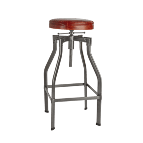 Turner Leather & Metal Adjustable Bar Stool - 35 Inch