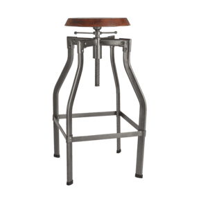 Turner Solid Wood & Metal Adjustable Bar Stool - 35 Inch