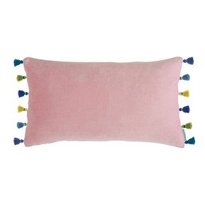 Blush Velvet Tassel Cushion