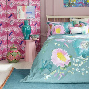 Kippen Teal Duvet Cover Sets