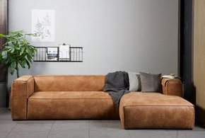 Domino Xxl Sofa - Eco Leather - 4 Seater L Shaped Sofa