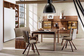 Loft Walnut Dining Table Dark Brown 140Cm
