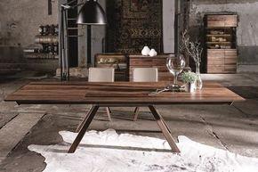 Spirit Designer Walnut Dining Table +48.5Cm Extension