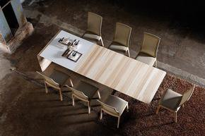 Designer Dining Table With Glass Wall Oak With Extension