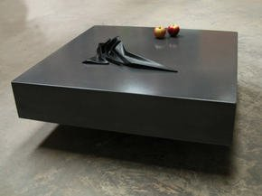 Helium Concrete Table - Dark Grey