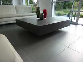 Helium Concrete Table - Coal Grey