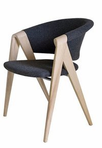 Designer Arm Chair In Oak - Pure New Wool (Loden)