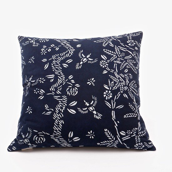 Birds and bees pattern cushion bluehanded ltd treniq 1 1537470325206