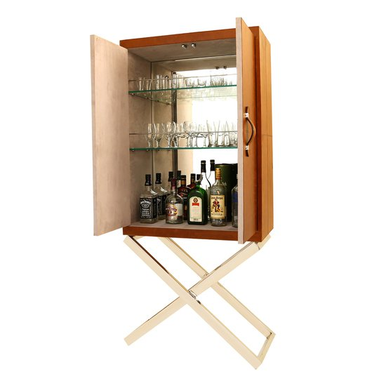Handcrafted standing genuine leather bespoke bar cabinet wine bottle holder magus designs treniq 5 1538652423348