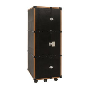 Black-Textured-Genuine-Leather-Bespoke-Bar-Cabinet-Wine-Bottle-Holder_Magus-Designs_Treniq_0