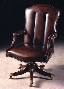 Mahogany-Swivel-Chair-In-X-Antique-Finish-In-Customers-Own-Leather-2008-Rmpl/Hide_Arthur-Brett_Treniq_0