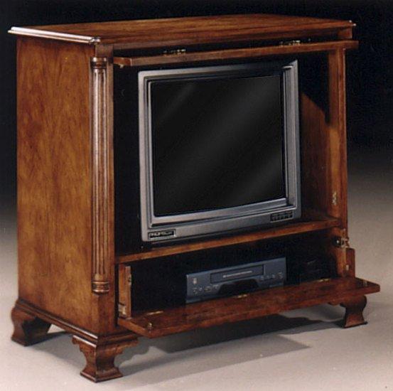 reputable site 9e5fa 32ebb Burr Walnut TV Cabinet In X Antique Finish