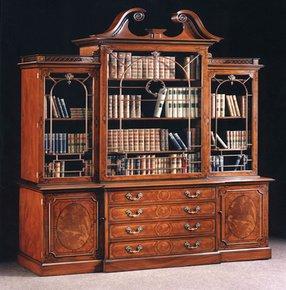 Chippendale-Style-Carved-Mahogany-Bureau-Bookcase_Arthur-Brett_Treniq_0