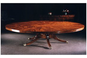 "Mahogany-66""-Radial-Extending-Circular-Dining-Table-With-Large-Circle-To-Centre_Arthur-Brett_Treniq_0"