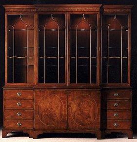 Mahogany-Breakfront-Bookcase_Arthur-Brett_Treniq_0