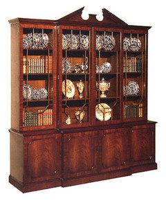 Mahogany-Breakfront-Bookcase-With-Pediment_Arthur-Brett_Treniq_0