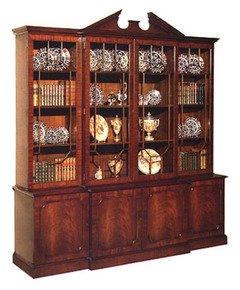 Mahogany-Breakfront-Bookcase-With-Pediment_Arthur-Brett_Treniq_0