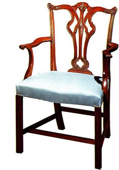 Mahogany carved arm chair in customers own material arthur brett treniq 1 1539163972727