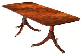 Mahogany-Dining-Table-With-Cross-Banding-2-Ped-1-Leaf_Arthur-Brett_Treniq_0