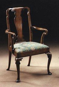 Walnut-Arm-Chair-In-Customers-Own-Material_Arthur-Brett_Treniq_0