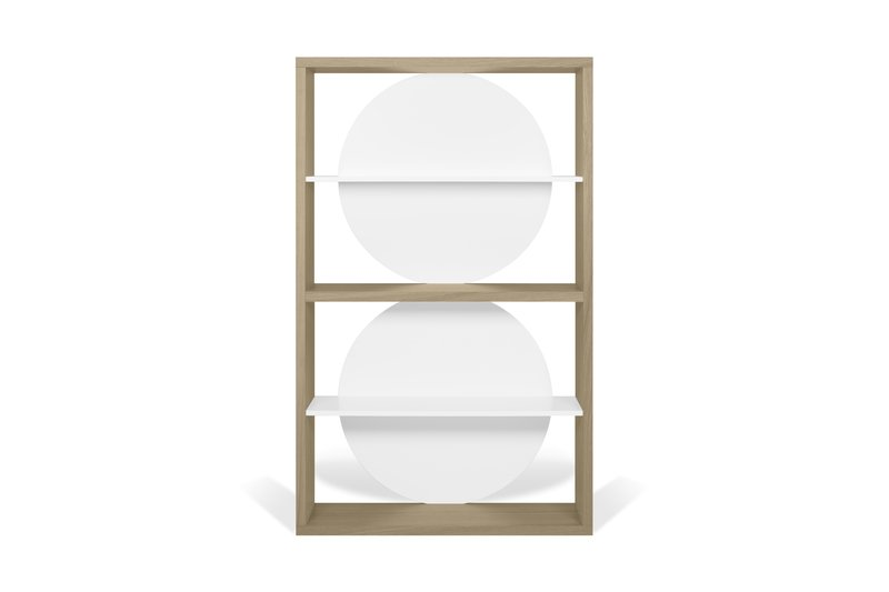 Zero shelving unit in light oak and white temahome treniq 1 1540291738858