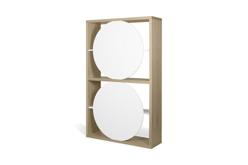 Zero shelving unit in light oak and white temahome treniq 1 1540291738862