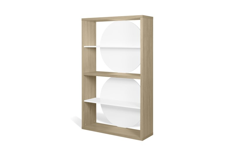 Zero shelving unit in light oak and white temahome treniq 1 1540291738856