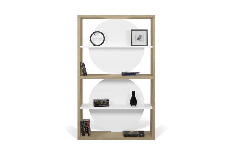 Zero shelving unit in light oak and white temahome treniq 1 1540291738860