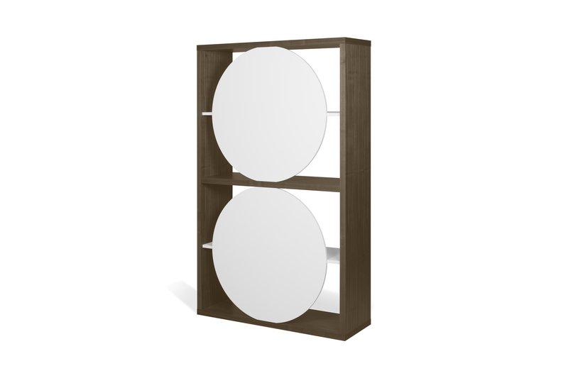 Zero shelving unit in walnut veneer and white temahome treniq 1 1540294304954