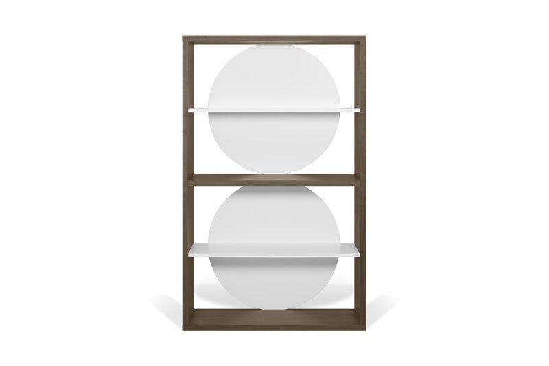 Zero shelving unit in walnut veneer and white temahome treniq 1 1540294304950