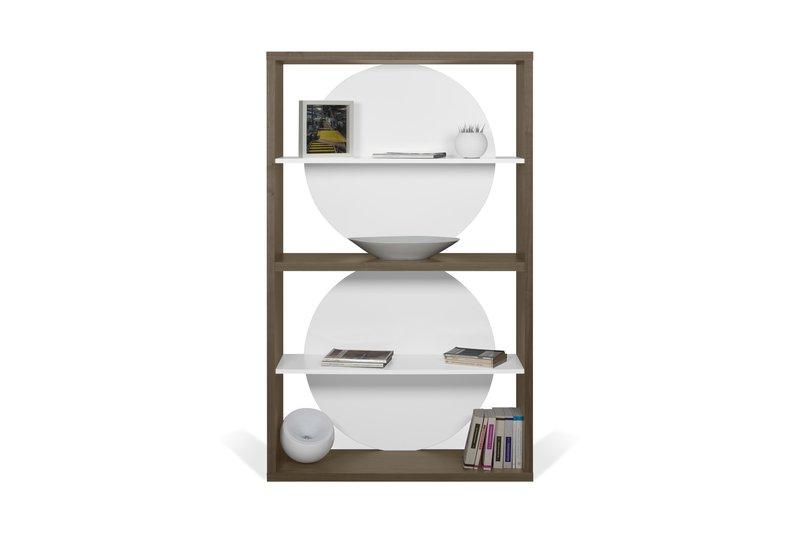 Zero shelving unit in walnut veneer and white temahome treniq 1 1540294304952