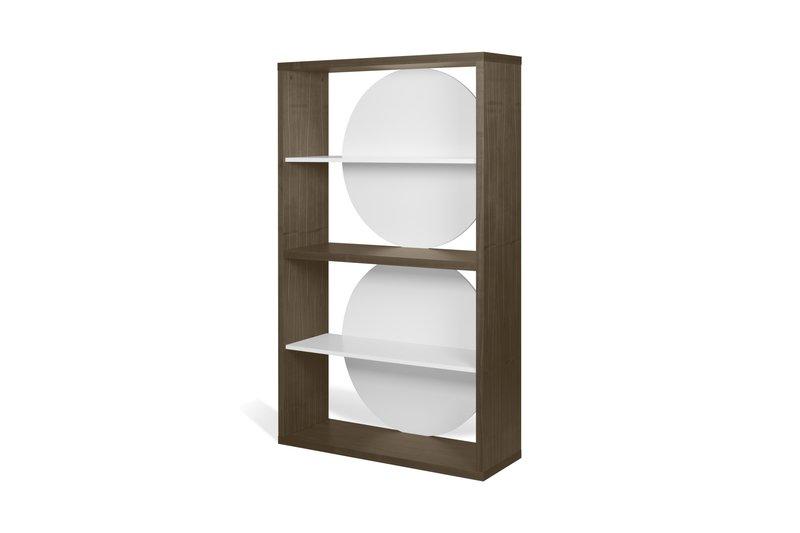 Zero shelving unit in walnut veneer and white temahome treniq 1 1540294304947