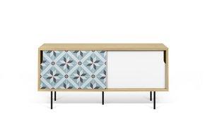 Dann-Tiles-Sideboard-135-W/-Star-Pattern-And-Metalic-Legs_Tema-Home_Treniq_0