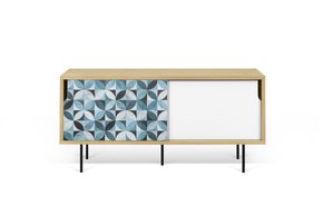 Dann-Tiles-Sideboard-135-W/-Petal-Pattern-And-Metalic-Legs_Tema-Home_Treniq_0