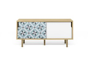 Dann-Tiles-Sideboard-135-W/-Star-Pattern-And-Wooden-Legs_Tema-Home_Treniq_0