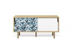 Dann-Tiles-Sideboard-135-W/-Petal-Pattern-And-Wooden-Legs_Tema-Home_Treniq_0