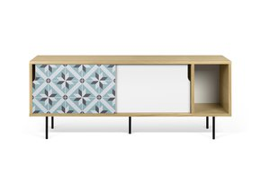 Dann-Tiles-Sideboard-165-W/-Star-Pattern-And-Metalic-Legs_Tema-Home_Treniq_0