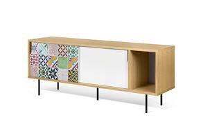 Dann-Tiles-Sideboard-165-W/-Patchwork-Pattern-And-Metalic-Legs_Tema-Home_Treniq_0