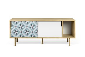 Dann-Tiles-Sideboard-165-W/-Star-Pattern-And-Wooden-Legs_Tema-Home_Treniq_0