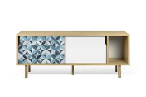 Dann-Tiles-Sideboard-165-W/-Petal-Pattern-And-Wooden-Legs_Tema-Home_Treniq_0