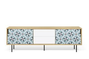 Dann-Tiles-Sideboard-201-W/-Star-Pattern-And-Metalic-Legs_Tema-Home_Treniq_0