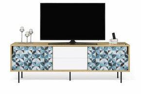 Dann-Tiles-Sideboard-201-W/-Petal-Pattern-And-Metalic-Legs_Tema-Home_Treniq_0