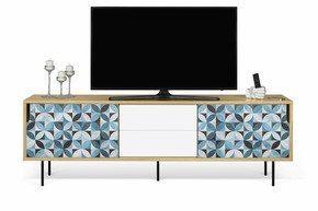 Dann-Tiles-Sideboard-201-W/-Petal-Pattern-And-Metalic-Legs_Tema-Home_Treniq_0